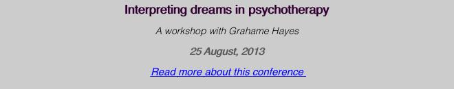 Interpreting dreams in psychotherapy